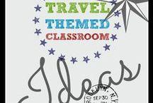 Travel Themed Classroom - High School English / Travel Theme ideas for my English 9 classroom!