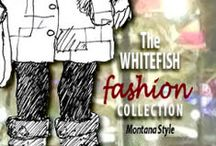 The Whitefish Fashion Collection / The Whitefish Fashion collection is a compilation of drawings of colorful characters made by Nanci Williams as well as interpretations of those drawings by some of the area's noted artists. As you turn the pages you will see that we had a lot of fun putting this book together. There are clever, whimsical, humorous, and inspired works by the artists who collaborated with us for the book.