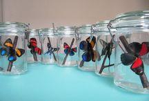 CAUGHT IN THE GARDEN / Iedereen heeft als kind wel eens een lieveheersbeestje of rups in een potje bewaard. Deze weckpotten worden bewoond door vlinders uit vlindertuinen van over de hele wereld.