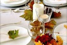 Autumn / Decoración cálida. Complementos del hogar anaranjados combinados con madera. El otoño ya está aquí ;)