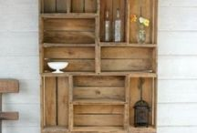 Office furniture inspiration / Looking for ideas for practical cupboard/shelving for our office. Ideally that can be made from recycling old wooden pallets or other old wood/wood pieces (such as an old wooden door).  New to Pinterest so any help or ideas appreciated....