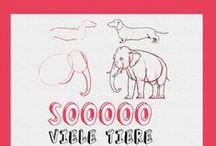 Tierisch niedlich / Egal ob groß, klein, rund, fleckig oder flauschig - wir finden alle Tiere großartig. Deshalb zeigen wir in unseren Büchern immer wieder neue Wege und Möglichkeiten, süße Tierchen zu malen, zeichnen oder sie anderweitig als Inspiration für die Handarbeit zu nutzen.