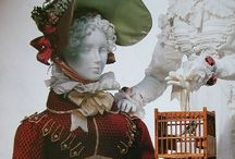 Costumes Neo Classical to Romantic / 1800 to 1900 fashion. Mens military, women's hairstyles, hats.