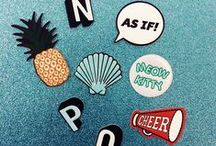 STICK 'EM UP / Skinnydip London's latest range in plushie stickers - make it your own with individual letters.