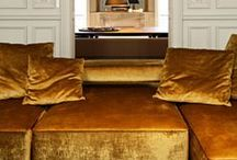 Gold for your home / Gold is always a good idea. The rich glamour of yellow gold is an enduring classic and has been used in interiors for centuries. There are some things all design lovers can appreciate and gold is one of them. #interiordesign #decor