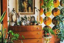 Home decor / eclectic, boho, rustic, retro home decor inspiration