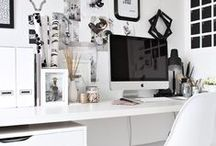 ✒ Home Decor: Work space ✒ / #work #deco #spaces #golddeco