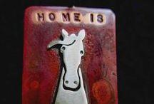 Horsin Around_Horse jewelry, Horse metal art, Horse notecards, Horse custom cameos / Horsin Around_Horse jewelry, Horse metal art, Horse notecards, Horse custom cameos, equestrian art, equestrian decor