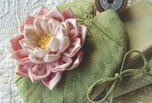 kvety z textilu / foto-návody na výrobu textilných kvetov