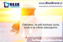 Motywacja - blue motivational quote / dla ducha, żeby zawsze być pozytywnie zakręconym :)