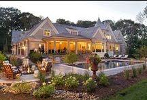 Zahrada + dům / Zahrada, stavby, dekorace, jezírko