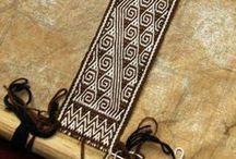 tablet weaving/card weaving/inkle loom/sprang / by Beata Radomska