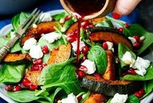 Winter Salads / Warming, healthy and fillings salads - full of roasted veg, grilled meat, dark green leaves or spicy dressings.