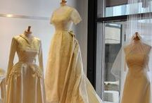 Wonderful Wedding / Bridal attire from a variety of decades reveals changing silhouettes throughout the decades.