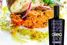 International Cuisine / Using extra virgin olive oil Olea Juice makes all dishes simply delicious!!!