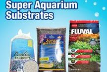 Super Aquarium Substrates / Looking to start a new aquarium? Build from the ground up with these great substrates. Tons of colors, tons of options! Get some ideas for your fish tank here!