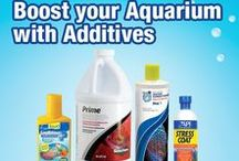 Boost your aquarium with Additives! / Here is a great reference for Aquarium Additives! Check out all the different products we have to offer, in a quick pin board! We carry all the top brands, and offer our own for the financially savvy!