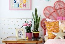 Kids room // ideas and inspiration / Children's bedroom ideas and inspo from around the world.  We're mad about a kids room with bright colours and bold prints, preferably together!  Lots of inspiration to help you create the perfect space x