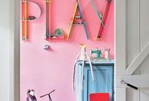 Play room // ideas and inspiration / Ideas for playrooms that create space for kids to play, create and imagine.