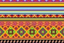 Tribal patterns / I'm researching Tribal patterns for a mosaic.
