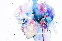 W A T E R C O L O R  / Inspirational abstract watercolor portraits that I love. From artist such as : Silvia Pelissero, / by B R I T T N E Y †  C O U N C I L