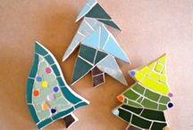 Christmas mosaics / Christmas mosaics  available to buy from www.justmosaics.co.uk