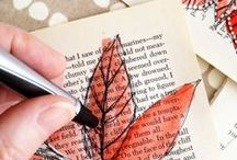 Book Craft Ideas / Using old book pages, book covers, and whole books to create crafts - plus other crafts we love  / by Brantford Public Library