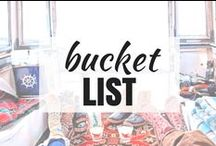 Travel | BUCKET LIST / From the most beautiful places I've ever visited to the fairy tale landscapes I yet have to explore, this bucket list board has it all.