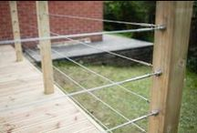Tensioned Wire Systems / Applications using tensioned wire and cable systems. Balustrading, Scuptural, Decorative, Landscape: https://www.s3i.co.uk/greenwall.php