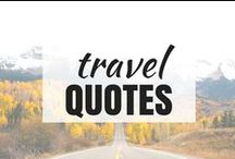 Travel | QUOTES / Inspirational #quotes about #travel and #wanderlust :)
