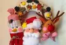 Christmas with felt by Coccolandia / Feltro e pannolenci per Natale.  Christmas with felt.