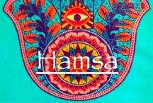 Hamsa / The hamsa hand is an old apotropaic amulet for magical protection from the envious or evil eye.