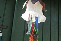 GARDEN > wind chimes / And other hanging art & junk