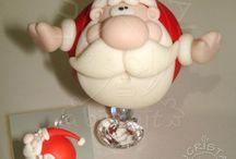 Christmas biscuit - porcelana fria - cold porcelain - pasta di mais / Natale con le paste naturali