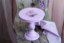 Cake Stand by Coco & Baunilha / Wooden cake stands painted and decorated