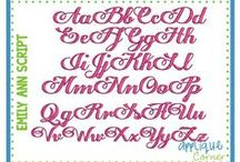 Embroidery Fonts Stitched