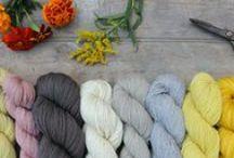 Yarn photographed