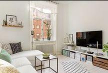 Piccoli spazi: il salotto / Esempi di piccoli salotti.