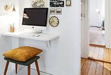 Piccoli spazi: lo studio / Esempi di piccoli angoli studio.
