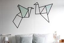 Decorazioni che non occupano spazio / Queste decorazioni sono perfette per i piccoli ambienti, perché sfruttano le pareti e non occupano spazio.
