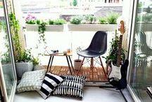 Piccoli spazi: il balcone / Esempi di piccoli spazi esterni.