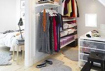 Guardaroba / Idee per organizzare il guardaroba o creare cabine armadio in spazi minuscoli.