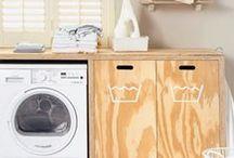 Piccoli spazi: lavanderia e ripostiglio / Esempi di piccole lavanderie e ripostigli.