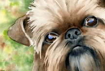 Dog Art / Pugs and Brussel Griffons in art