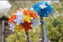 My paper flowers - bouquet Kusudama