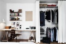 Apartment ideas - closet
