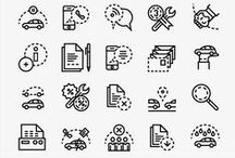 Icons / #Graphic Design #Icons / by ☞ Beiru ☜