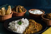 cooking in indian kitchen  / for those who love Indian food , which is always made with love