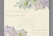 Floral Wedding Invitations / Beautiful Floral Wedding Invitations