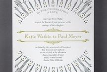 Art Deco Wedding Invitation / Art Deco Wedding Invitations